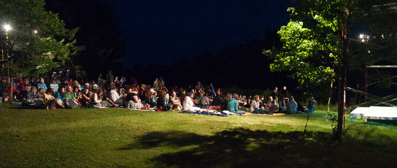Audience members at The Common in Pittsfield